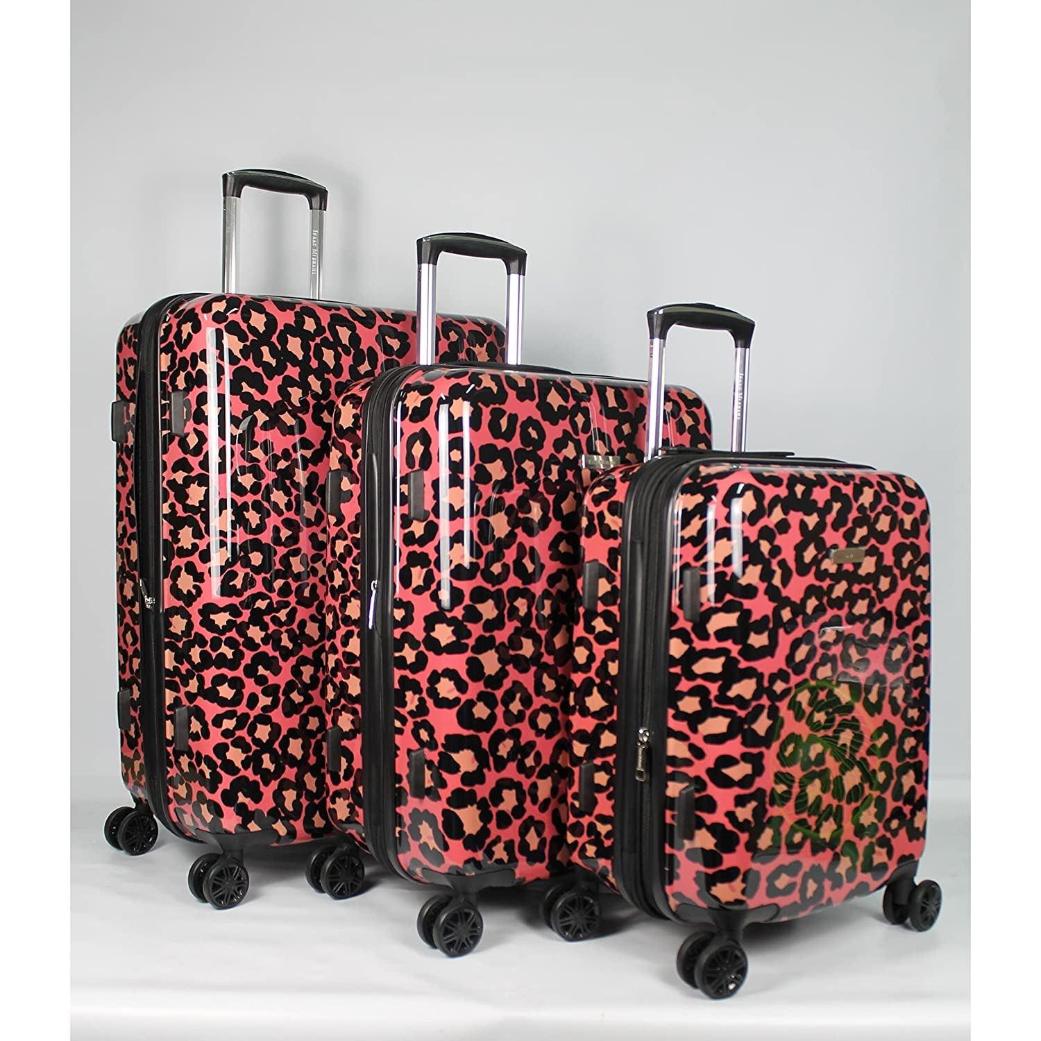 Isaac Mizrahi Gabby Hardside 3-piece luggage set Pink Grey