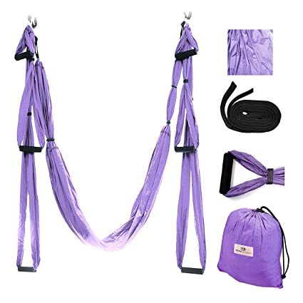Gravotonics Aerial Yoga Columpios, Light Purple: Amazon.es ...