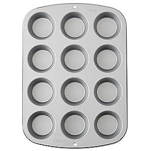 Wilton Recipe Right Muffin Pan, 12-Cup Non-Stick Muffin Pan