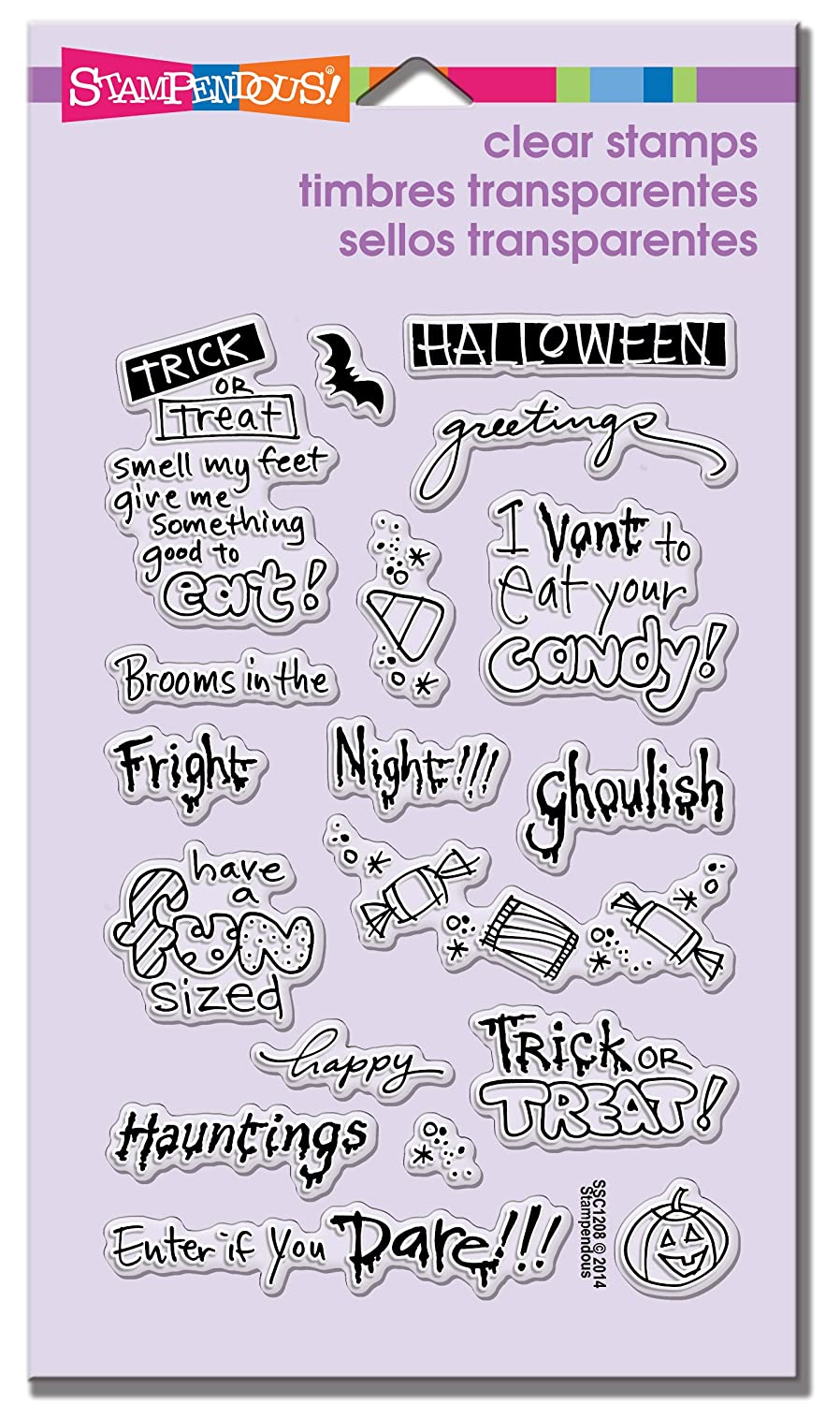 STAMPENDOUS Perfectly Clear Stamps, Tricky Words   Tricky Words   Inc. SSC1208