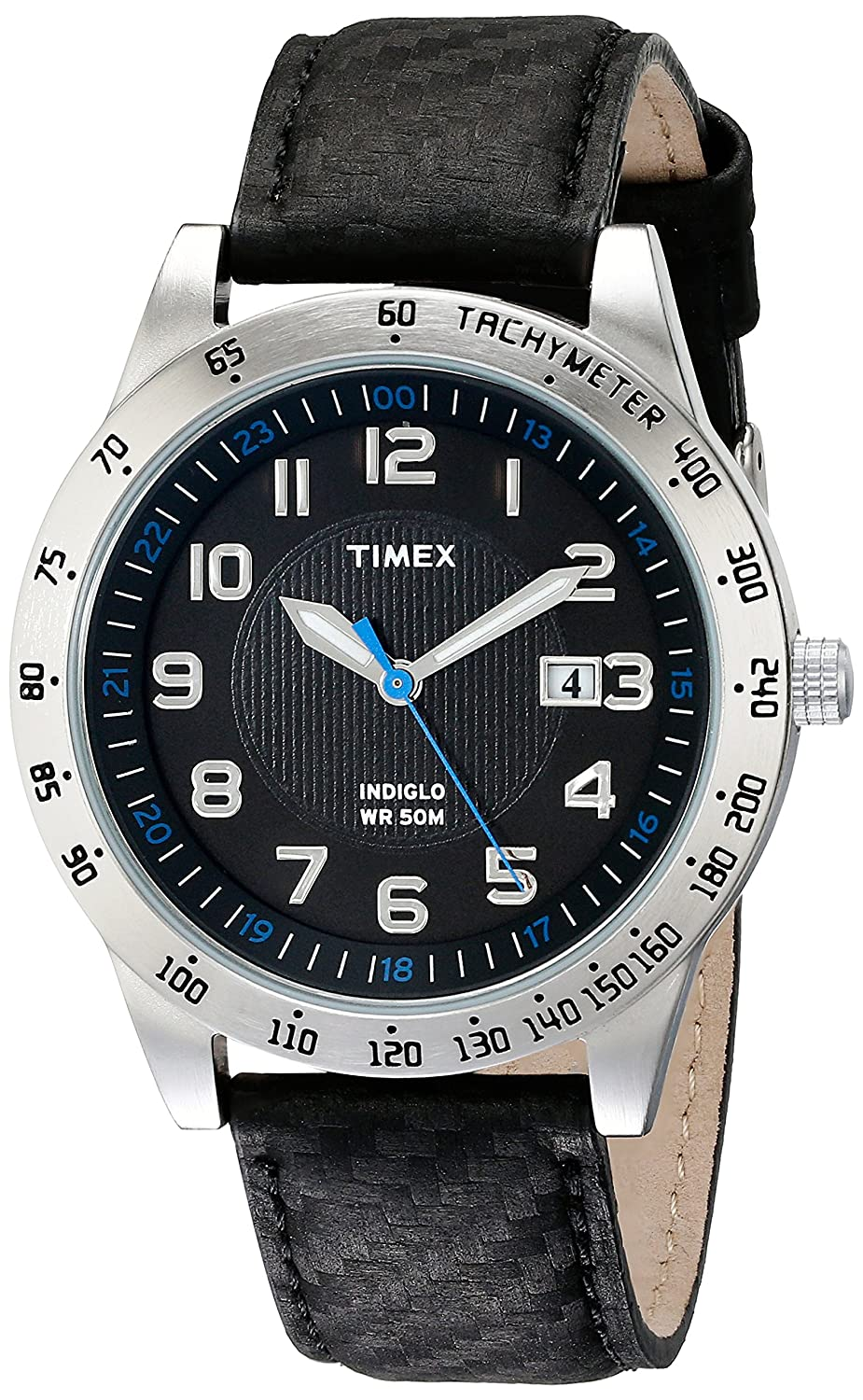 Amazon.com: Timex Mens T2N920 Elevated Classics Stainless Steel Watch with Black Band: Timex: Watches