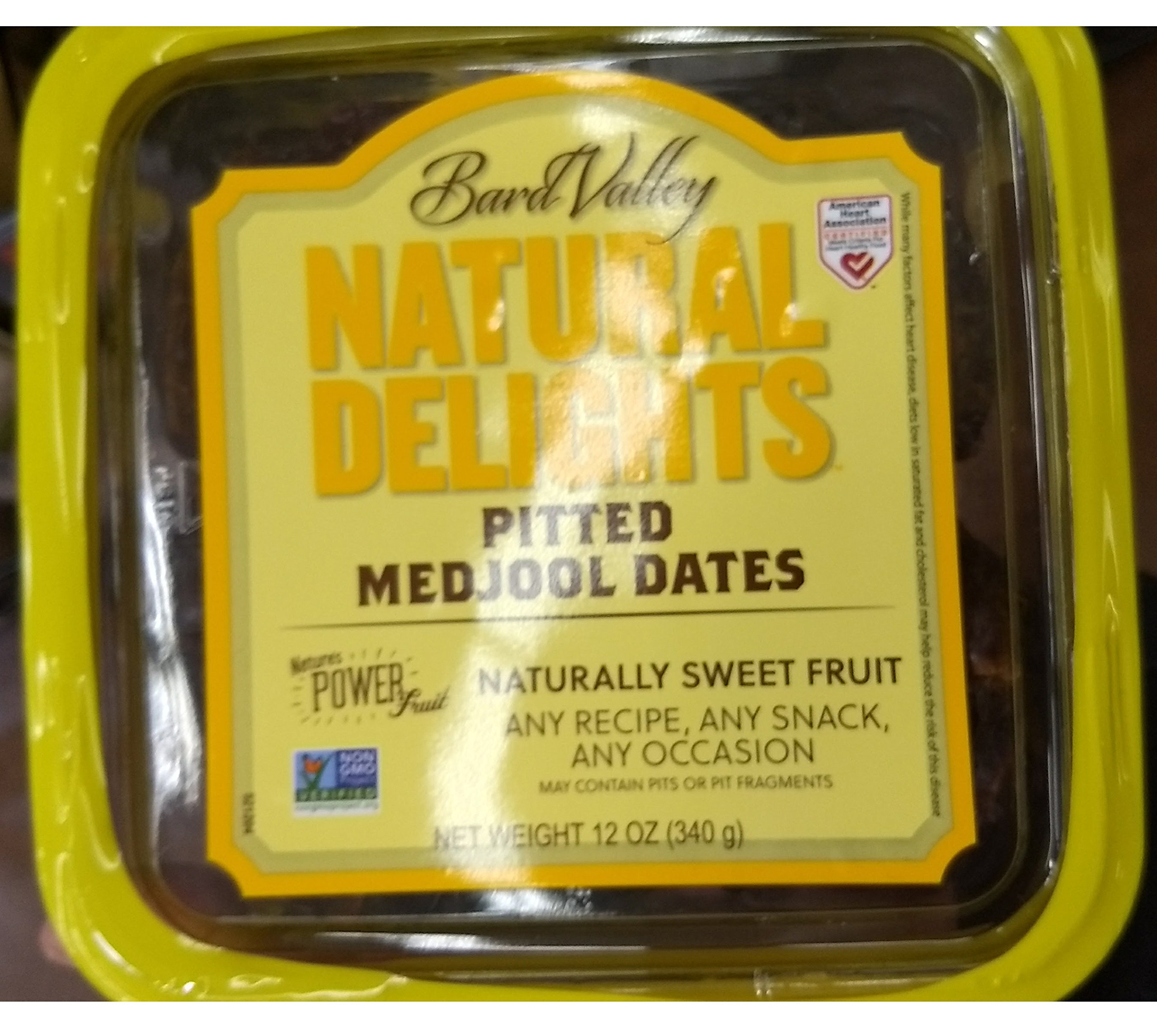 Natural Delights Pitted Medjool Dates, Naturally sweet fruit 12oz, pack of 1 by Natural Delights
