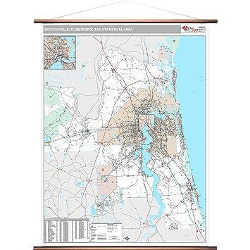 32216 Zip Code Map.Amazon Com Marketmaps Jacksonville Fl Metro Area Wall Map 2018