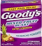Goody's Extra Strength Headache Powders | Mixed Fruit Blast | 24 Count