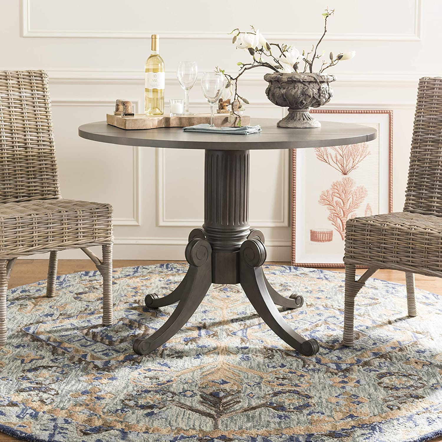 Safavieh Home Collection Forest Drop Leaf Dining Table Grey Wash