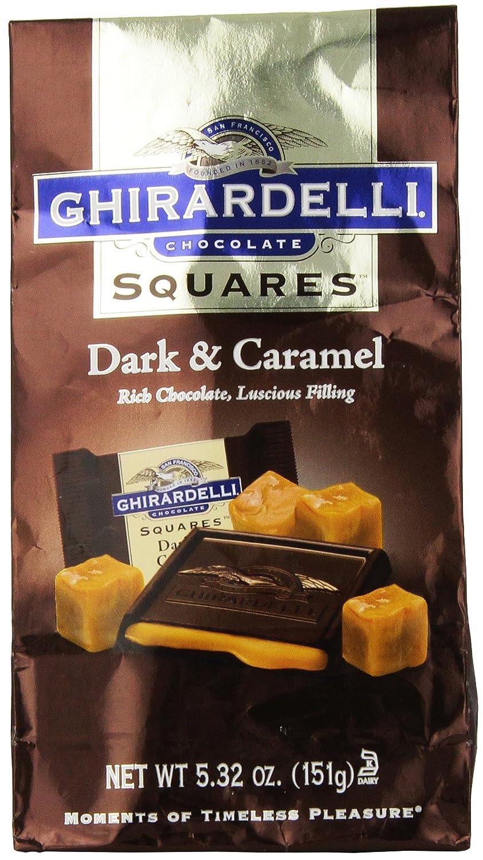Amazon.com : Ghirardelli Chocolate Squares, Dark and Caramel ...