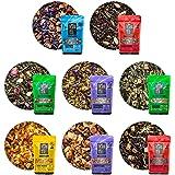 Tiesta Tea - Tiesta's Top 8 Loose Leaf Tea Sampler, High to No Caffeine, Hot & Iced Tea, Sample Pack with Green, Herbal…