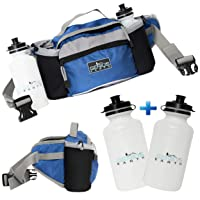 Genius Earth Travel/Hiking Fanny Pack with Water Bottle Holder, Set of 2 Bottles...