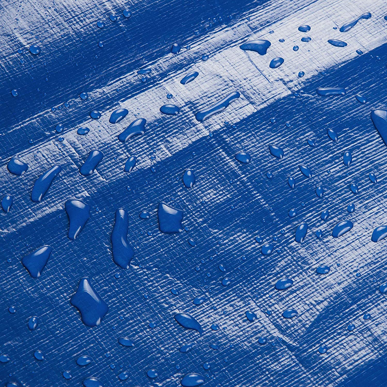 Duradera con Ojales para Muebles Piscina Coche 280 g//m2 Azul 3x5m GZ1211bl04 Jard/ín WOLTU Lona Impermeable Lona de Protecci/ón