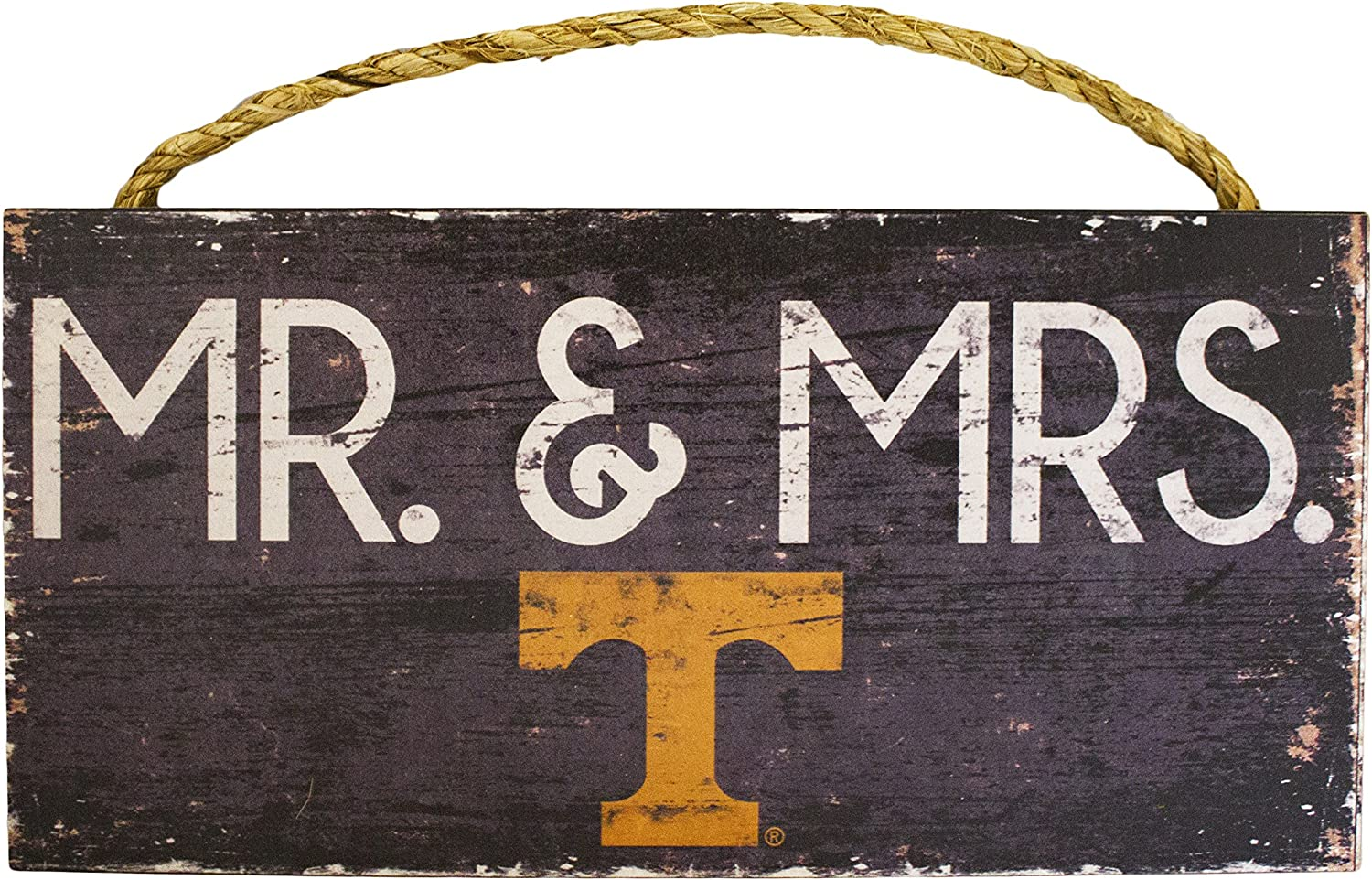 and Mrs Fan Creations NCAA 12 x 6 Mr Wood Sign