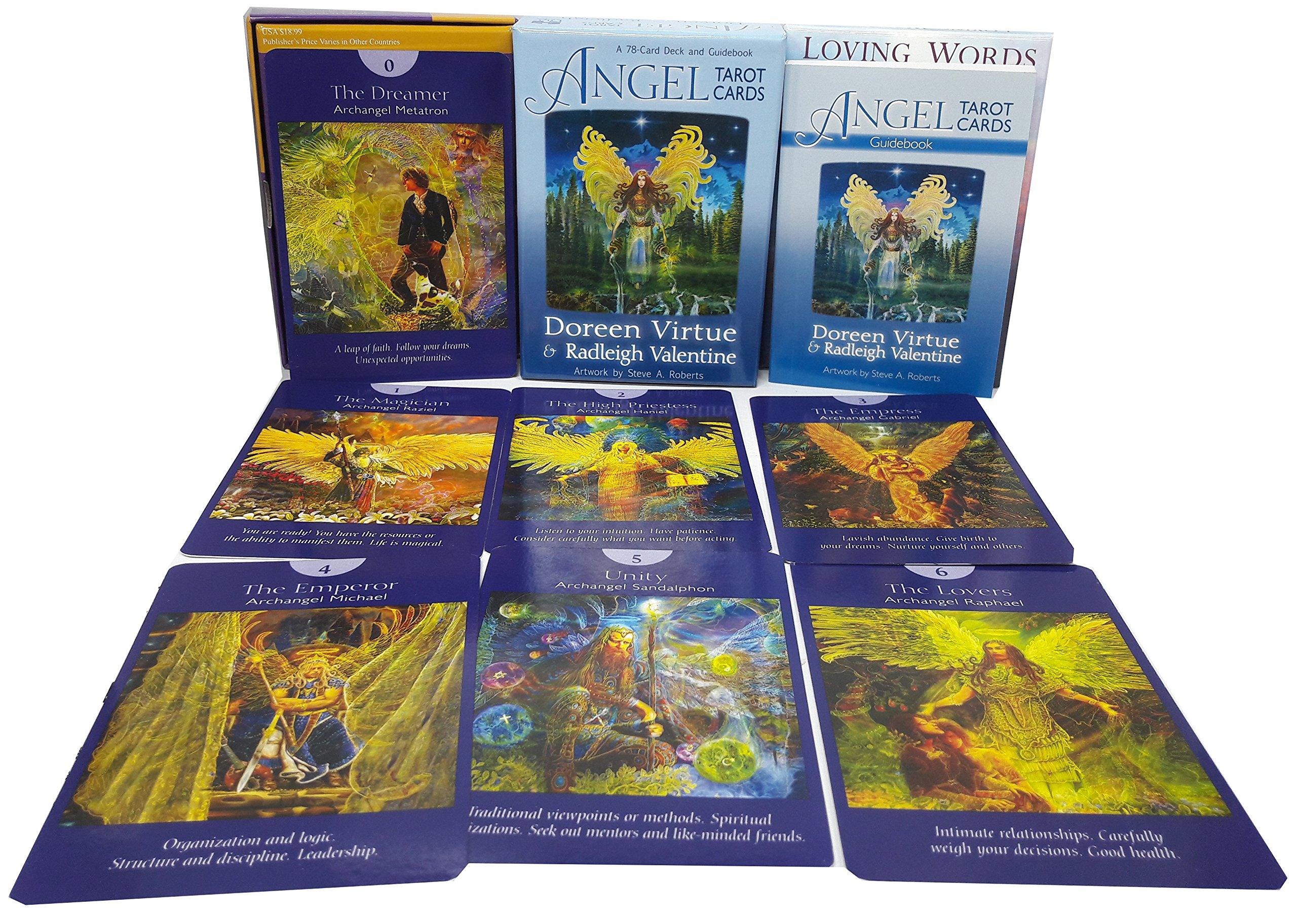 Angel tarot cards doreen virtue a 78 card deck and guidebook pack set:  Amazon.co.uk: 9789123691371: Books