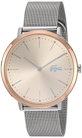 86ab74337bf20d Lacoste Women s Moon Ultra Slim Silver and Gold Quartz Watch with  Stainless-Steel Strap