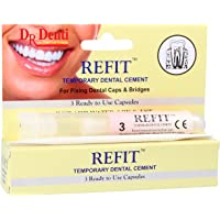 Dr Denti Refit | 3 Capsules of Temporary Dental Cement