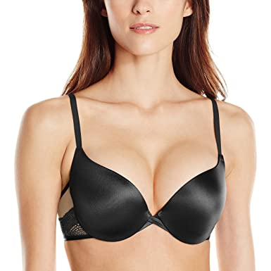 Maidenform Women's Love The Lift Push Up, Black Body/Beige, 34C
