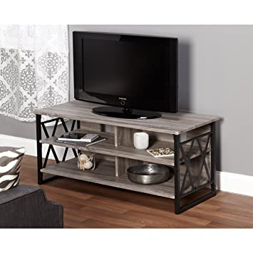 Amazon Com Metro Shop Seneca Xx 48 Inch Black Grey Tv Stand
