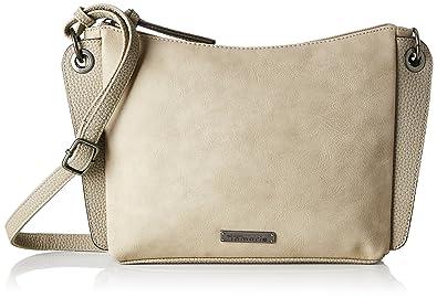Damen Edna Crossbody Bag S Umhängetasche, Beige (Pepper Comb), 19x6x24 cm Tamaris