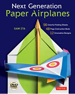 Flying Dragons Paper Airplane Kit 48 Airplanes 64 Page Instruction Book 12 Original Designs