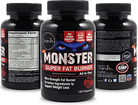 Amazon Com Monster Super Fat Burner Powerful And Fast Acting Fat