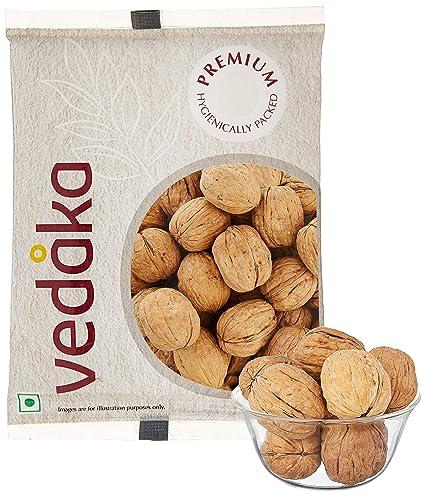 Amazon Brand - Vedaka Premium Inshell Walnuts, 500g
