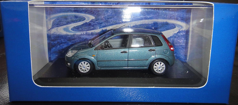 Ford Fiesta, met.-Petroleo, 5 puertas , 2002, Modelo de Auto, modello completo, Minichamps 1:43