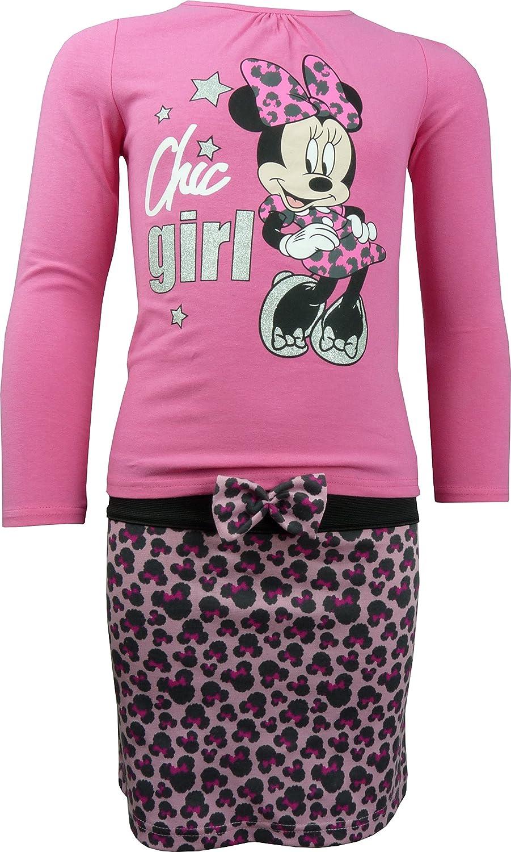 Disney Minnie Mouse - Conjunto de Camiseta y Falda de Manga Larga ...