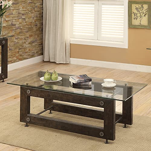 Coaster Home Furnishings Coffee Table, Brown Black