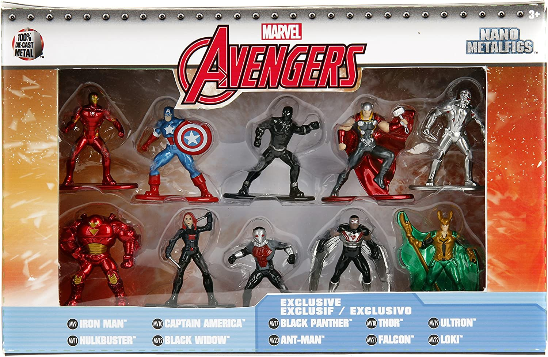 Jada Metalfig Nano Marvel Avengers 10-pack