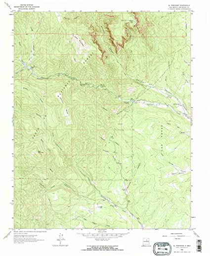 New Mexico Maps | 1961 El Porvenir, NM USGS Historical Topographic Map |Fine Art