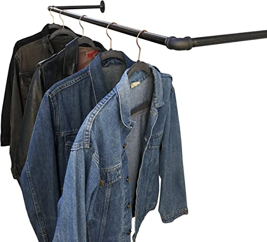 DIY CARTEL Industrial Pipe Wall/Ceiling Mount Clothing & Garment Rack - Hardware ONLY - Perfect for Retail Display, Hanging Plants, Laundry - 30inch