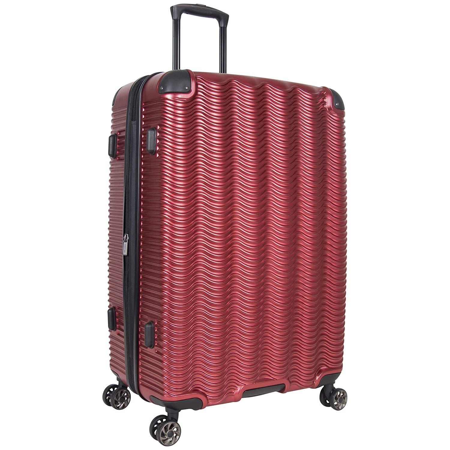 Kenneth Cole Reaction Wave Rush 20 Lightweight Hardside 8-Wheel Spinner Expandable Carry-On Suitcase Metallic Charcoal