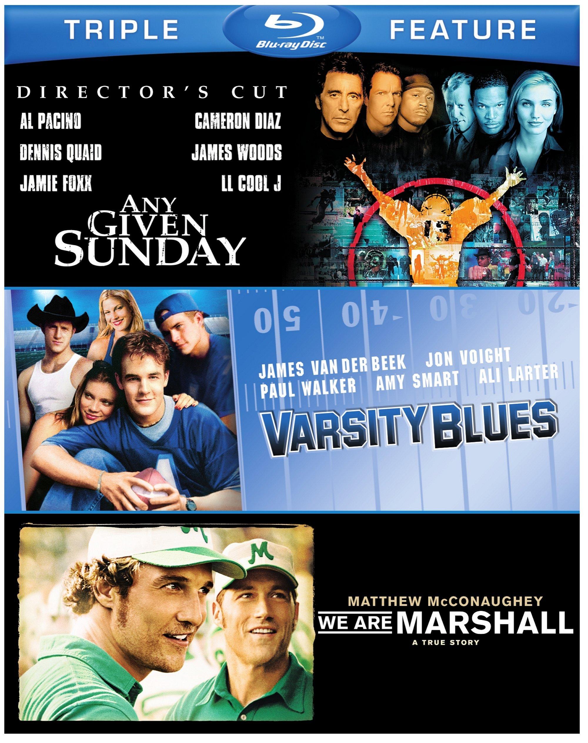 Football Triple Feature: Any Given Sunday / Varsity Blues / We Are Marshall [Blu-ray]