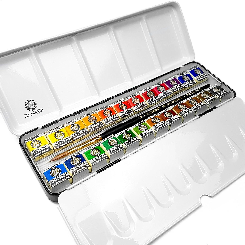 Royal Talens - Rembrandt profesional el Color del agua - Metal caja ...