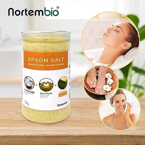 Nortembio Sal de Epsom 1,25 Kg. Novedosa Fragancia de Vainilla y Canela. Hidratada con Vitamina C y E. Sales de Baño y Cuidado Personal.: Amazon.es: Hogar