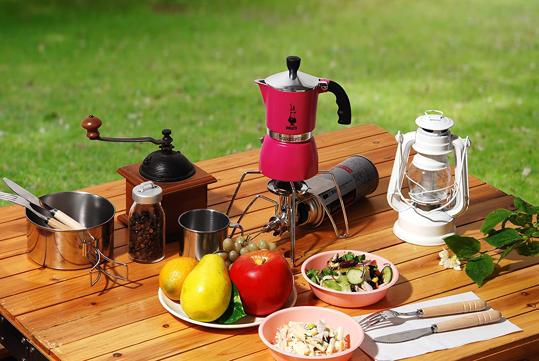 RED 3-cup Bialetti Fiammetta Stove Top Espresso Maker 20004082//MR