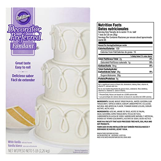 Amazon.com : Wilton Decorator Preferred White Fondant, 5 lb. : Sports & Outdoors
