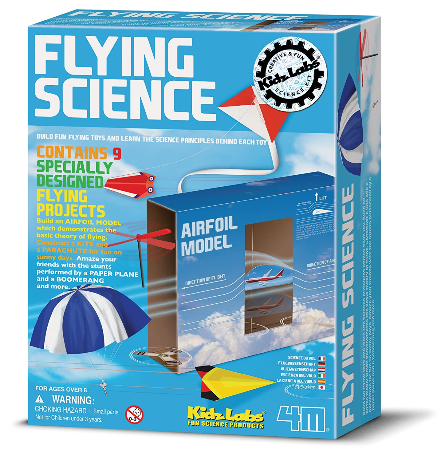 Amazon 4M Kidz Labs Flying Science Toys & Games