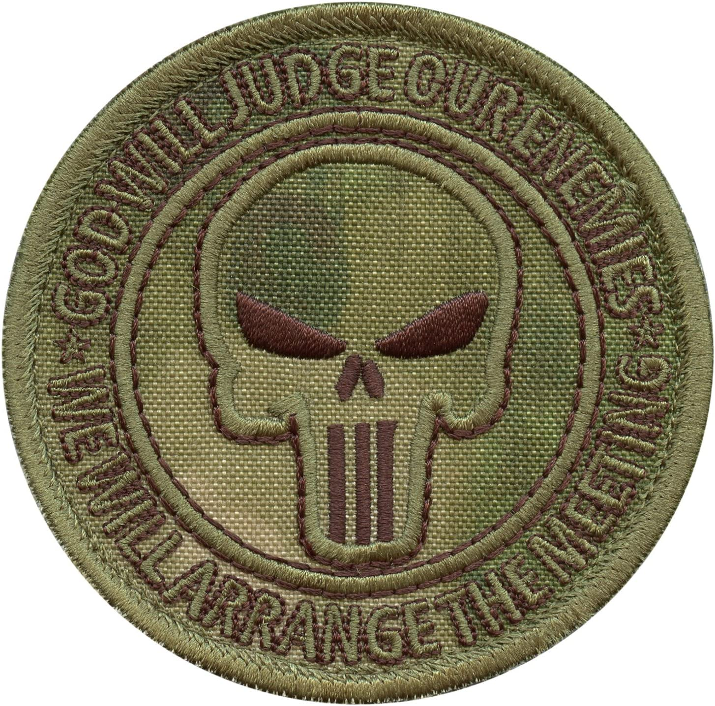 God Will Judge Our Enemies ACU Subdued US Navy Seals DEVGRU JSOC Morale Sew Iron on Patch