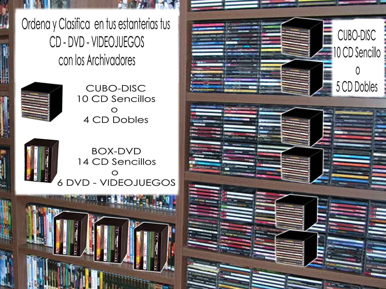 Clements Archivador CuboDics 10 CD (5 unidades para archivar 50 CD Sencillos ó 20 Dobles): Amazon.es: Hogar