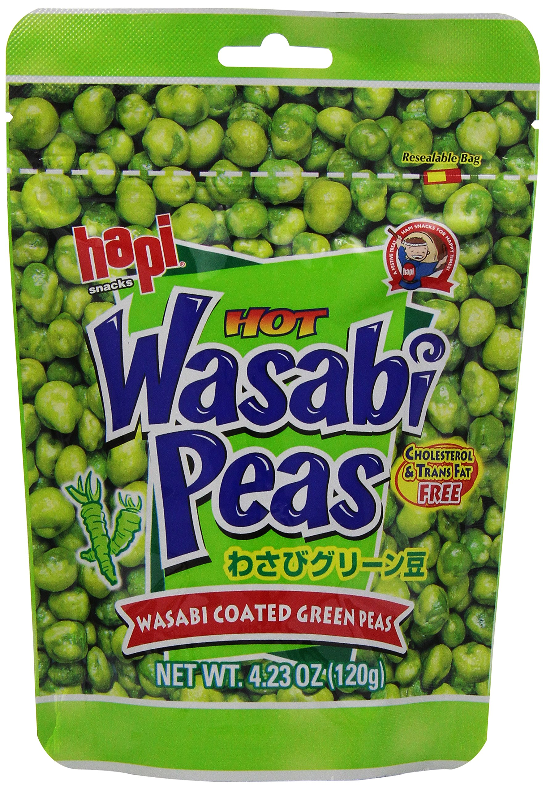 Hapi Wasabi Pea Pouch, 4.23 Ounce (Pack of 12)