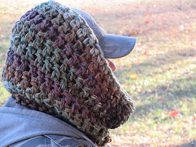 Amazon Handmade Hunter Camo Crocheted Scarf Thick Double Chunky
