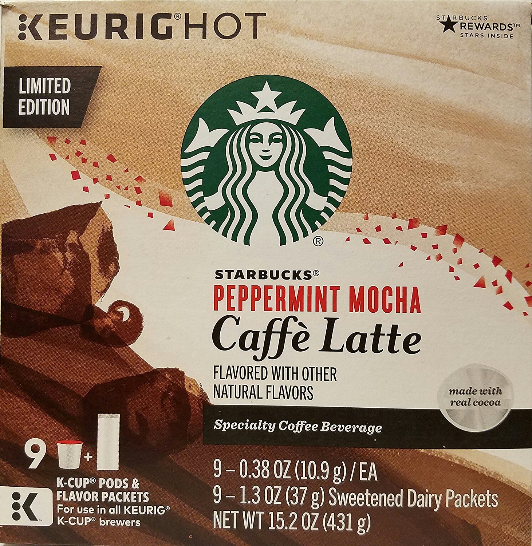 Limited Edition Starbucks Peppermint Mocha Caffe Latte K-cups