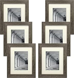 Studio 500 Distressed Grey Picture Frames from Our Distressed Collection (MDF2915) Grey, 6-Pack, Comes in Different Sizes (11x14)
