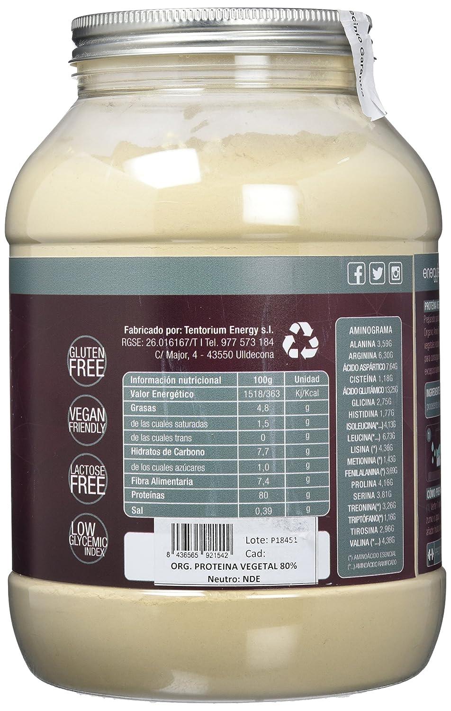 Energy Feelings Proteína Vegetal 80% musculación sabor neutro - 1,5 Kg: Amazon.es: Salud y cuidado personal