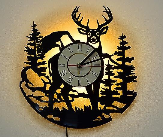 Amazon night light led light wall lamp wall lights deer night light led light wall lamp wall lights deer wall clock aloadofball Images