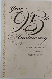 Amazon tender thoughts greeting card wedding joy to both of your 25th anniversary with warmest thoughts and wishes greeting card congratulations 25 years of m4hsunfo