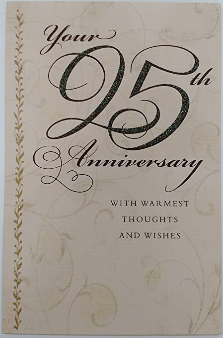 Amazon your 25th anniversary with warmest thoughts and your 25th anniversary with warmest thoughts and wishes greeting card congratulations 25 years of m4hsunfo