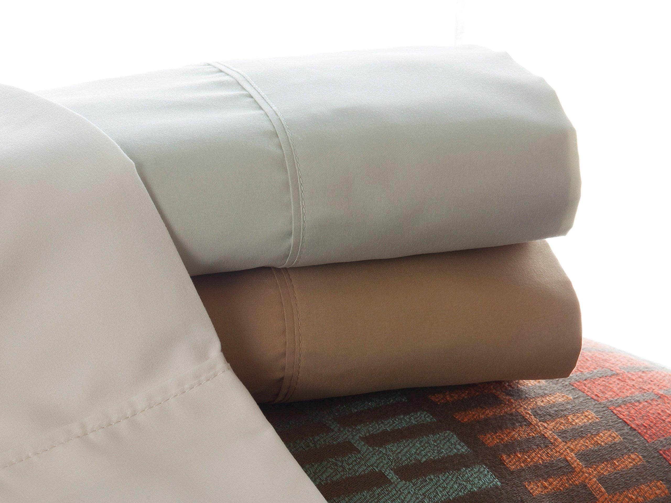 """Denver 343533 RV King Size Adjustable Sheet Set Ivory - Fits mattresses up to 6"""" deep Ultra-soft brushed microfiber Extra-long top sheet - sheet-sets, bedroom-sheets-comforters, bedroom - 91PHpU7xp9L -"""