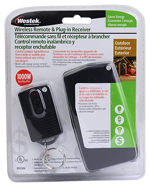 Outdoor Lighting Timer With Remote   Amazon.com: Westek RFK306LC Outdoor  Wireless Remote And Plug In ..