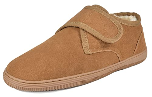 DREAM PAIRS Men's Fur-Loafer-03 Tan Suede Slippers Loafers Shoes Size 6.5 M