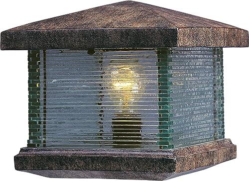 Maxim 48736CLET Triumph VX Outdoor Post 1-Light 60 Watt, 10 H x 10 W, Earth Tone